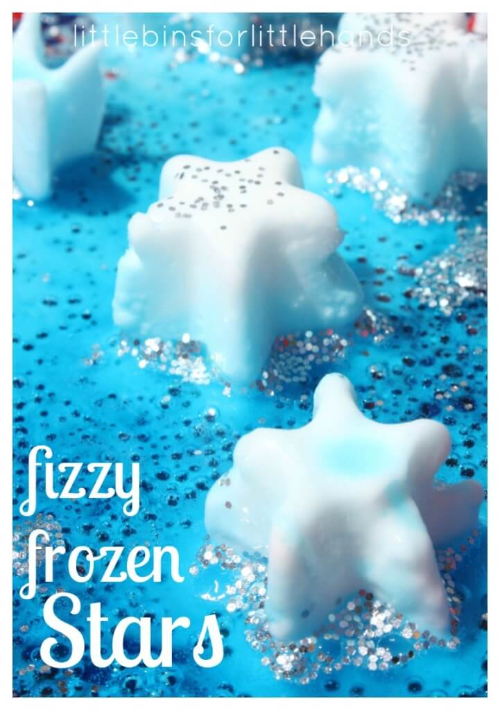 Frozen Stars Baking Soda Science Summer Ice Melt Activity for Kids