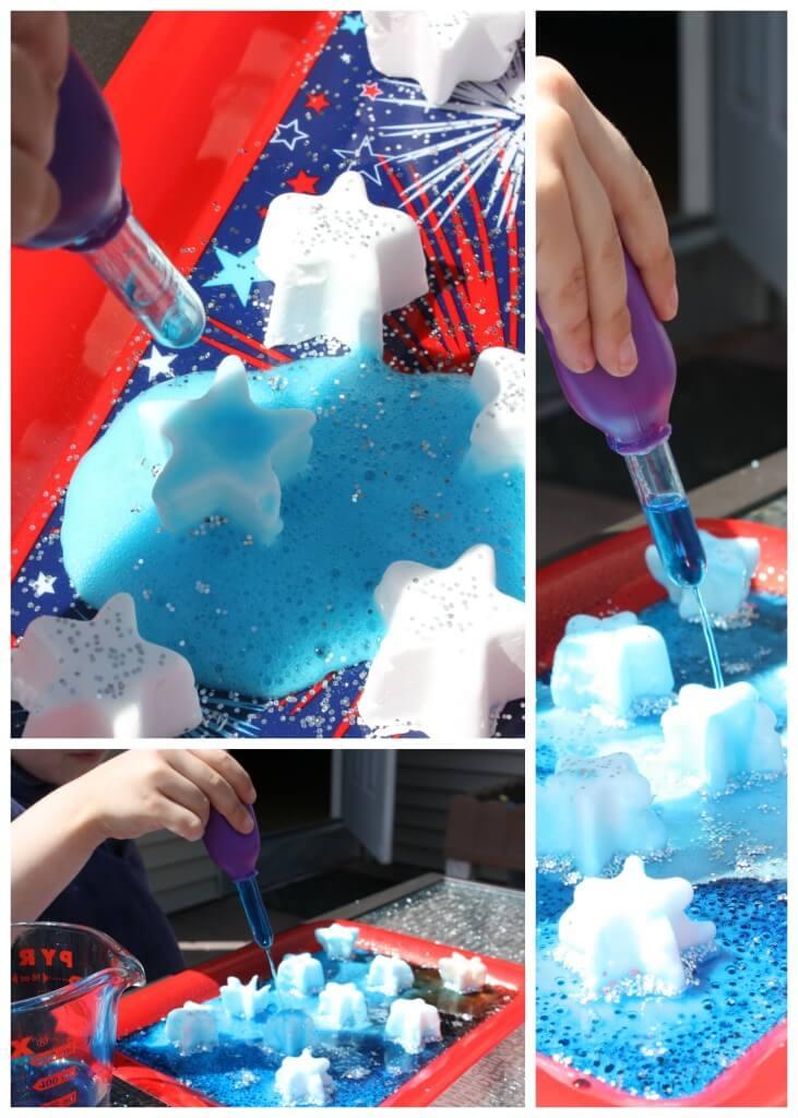 Frozen Summer baking Soda Science Eye Dropper