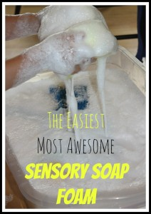 Ivory Soap Foam Sensory Play Activity