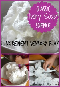 Ivory Soap Sensory Science Experiment