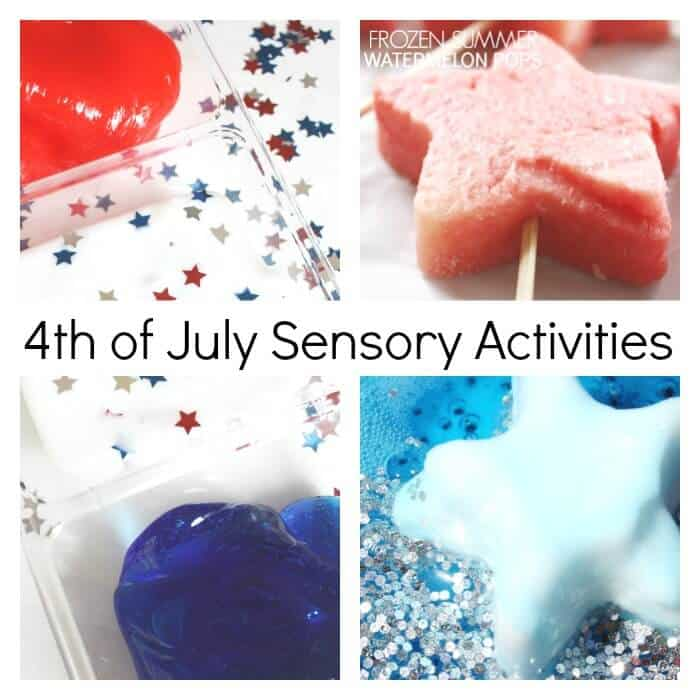 July 4th Sensory Activities patriotic Sensory Play for Kids