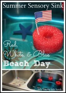 Red White Blue Summer Sensory Sink