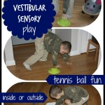 Tennis Ball Vestibular Sensory Play