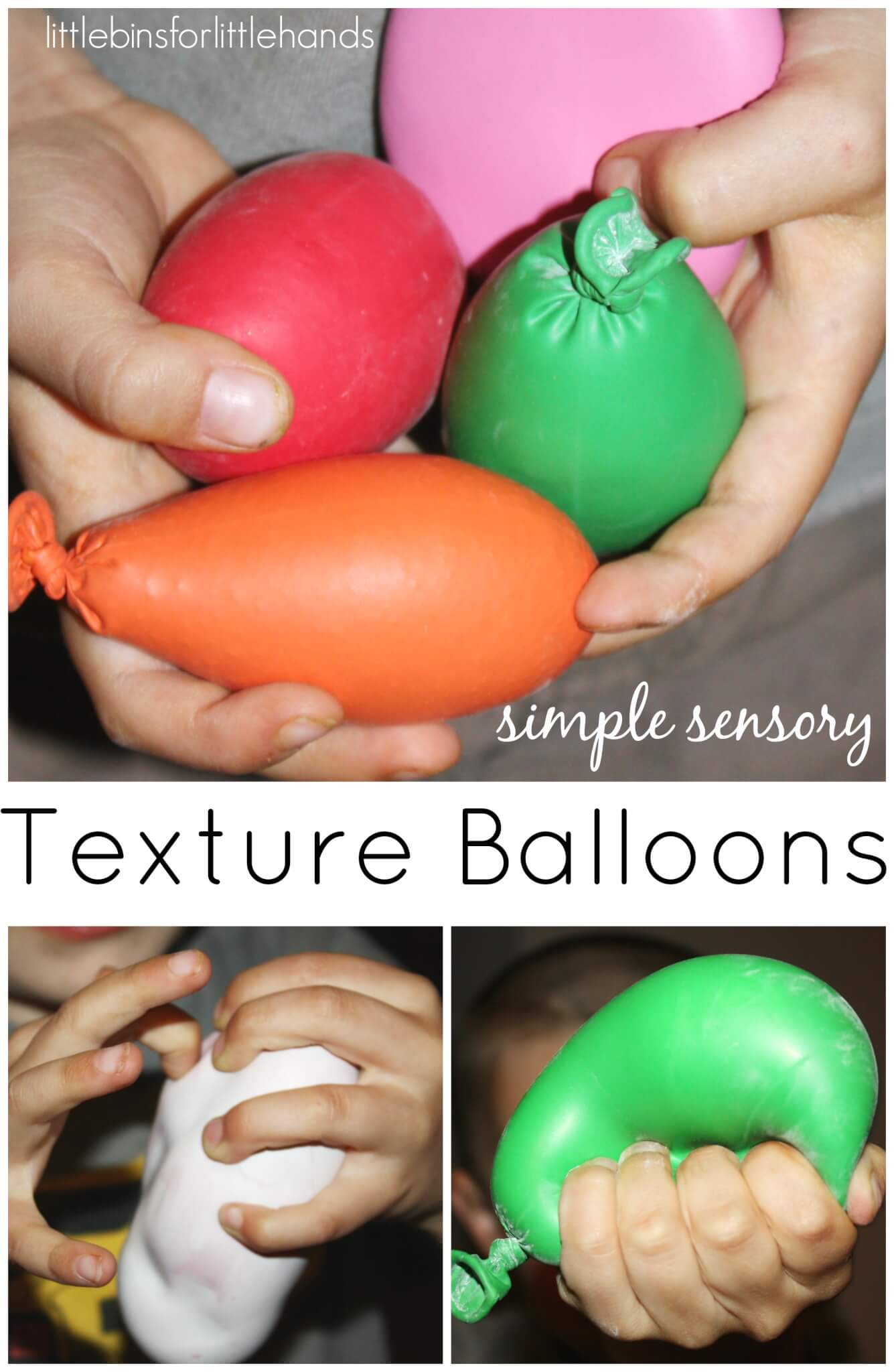 Texture Balloons for Kids Tactile Sensory Play