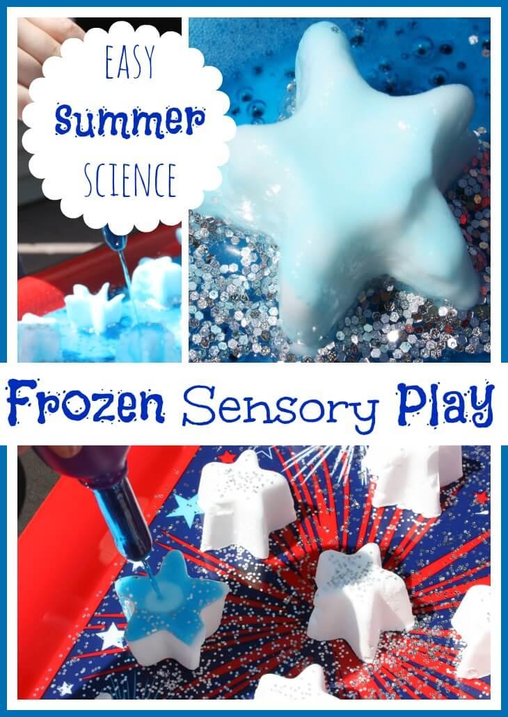 frozen stars summer baking soda science play