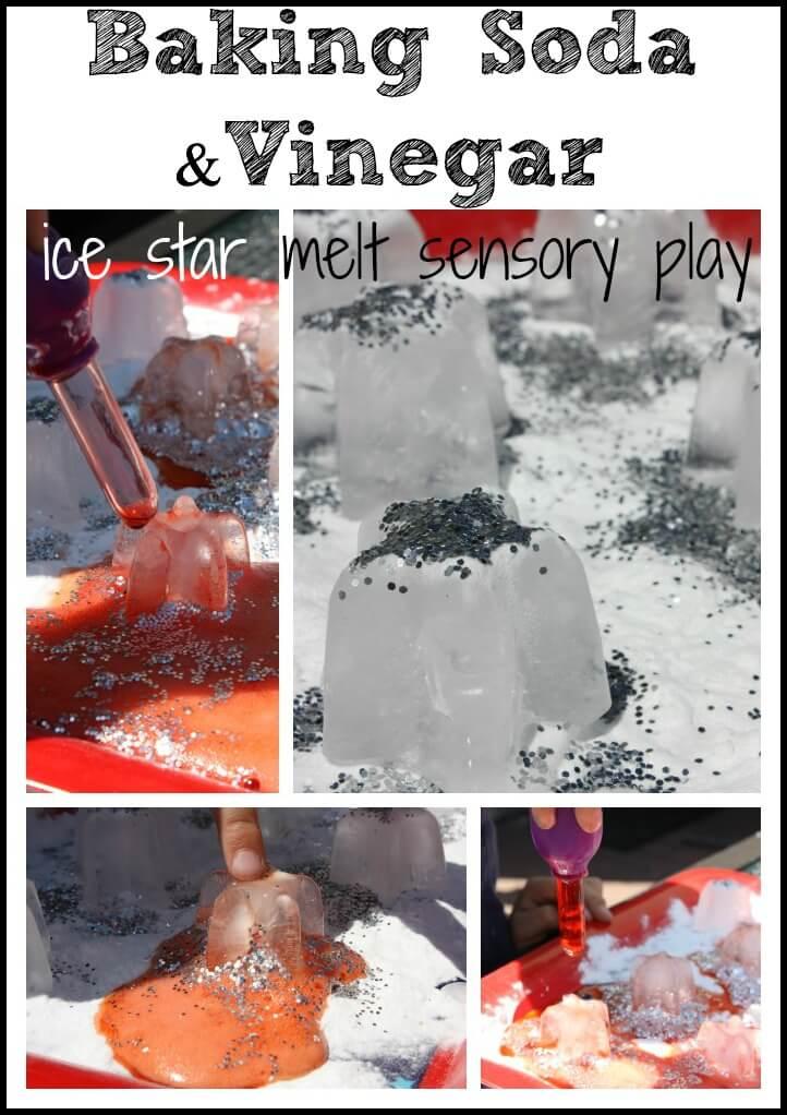 ice stars baking soda melt