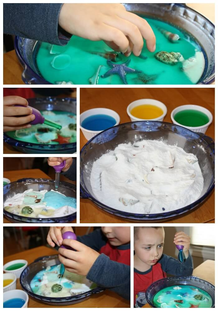 ocean fizzy baking soda activity