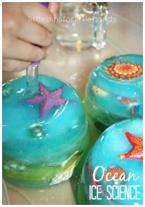 ocean science ocean sensory play eye dropper play