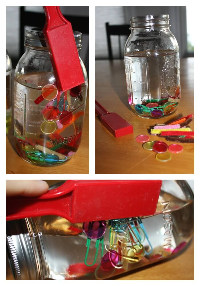 science discovery bottles exploring magnets