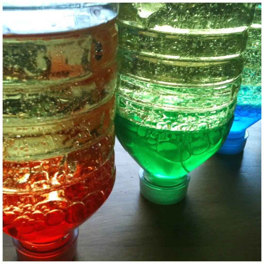 science discovery bottles oil and water homemade lava lamp