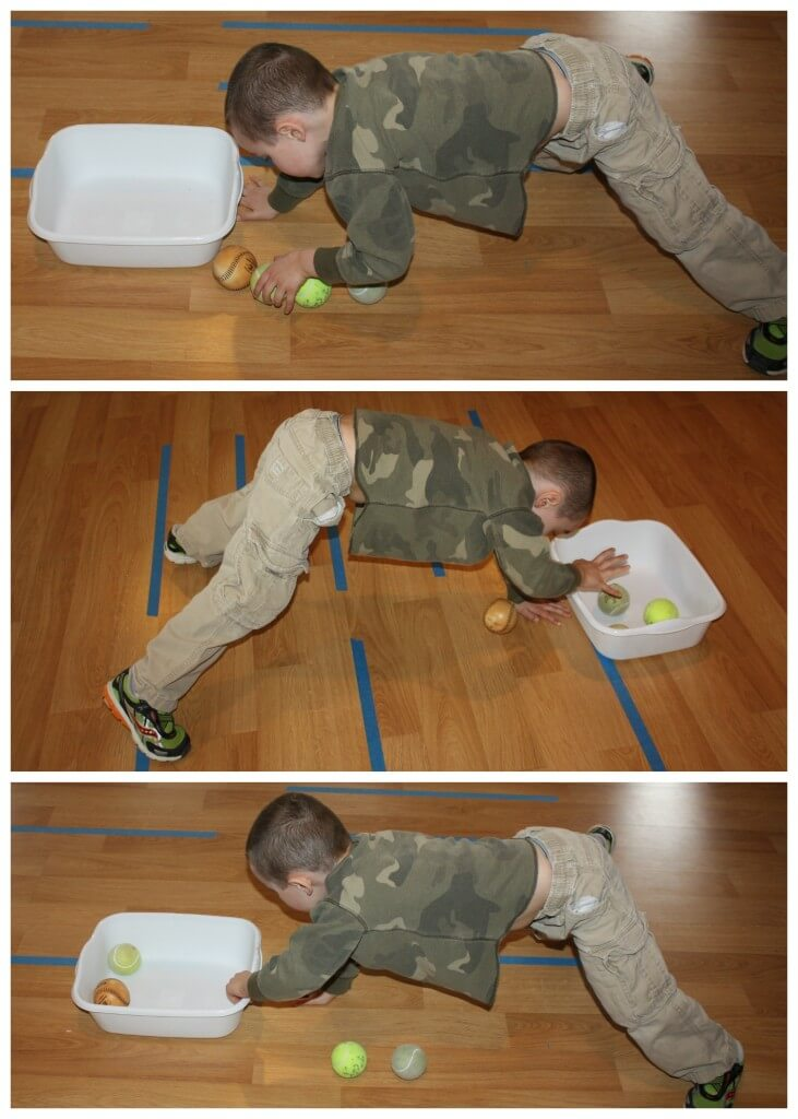 tennis ball game vestibular ball transfer