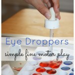 Eye Droppers Simple Fine Motor Play