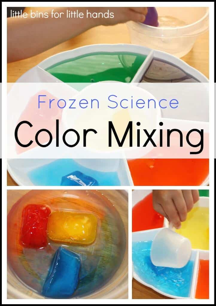 frozen color mixing science activity little bins for little hands. Black Bedroom Furniture Sets. Home Design Ideas