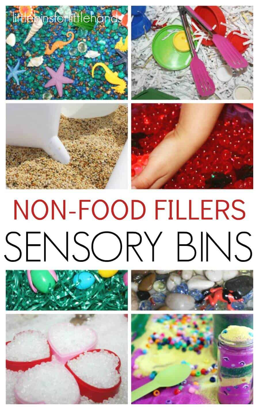 Non Food Sensory Bin Fillers Sensory Activities for Kids