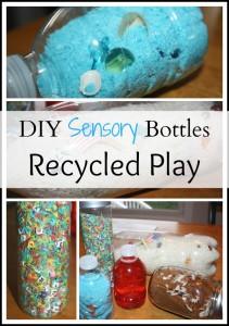 Recycles DIY sensory bottles