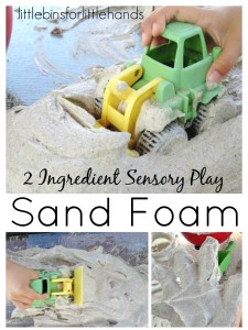 Sand Foam Sensory Play 2 Ingredient Recipe Sensory Play