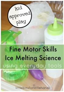 Treasure Hunt Fine Motor Skills Ice Melting Science Using Everyday Tools