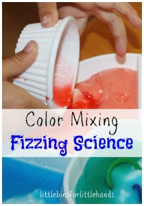 color mixing fizzing science