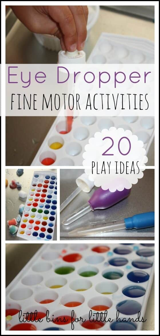 eye dropper fine motor activities