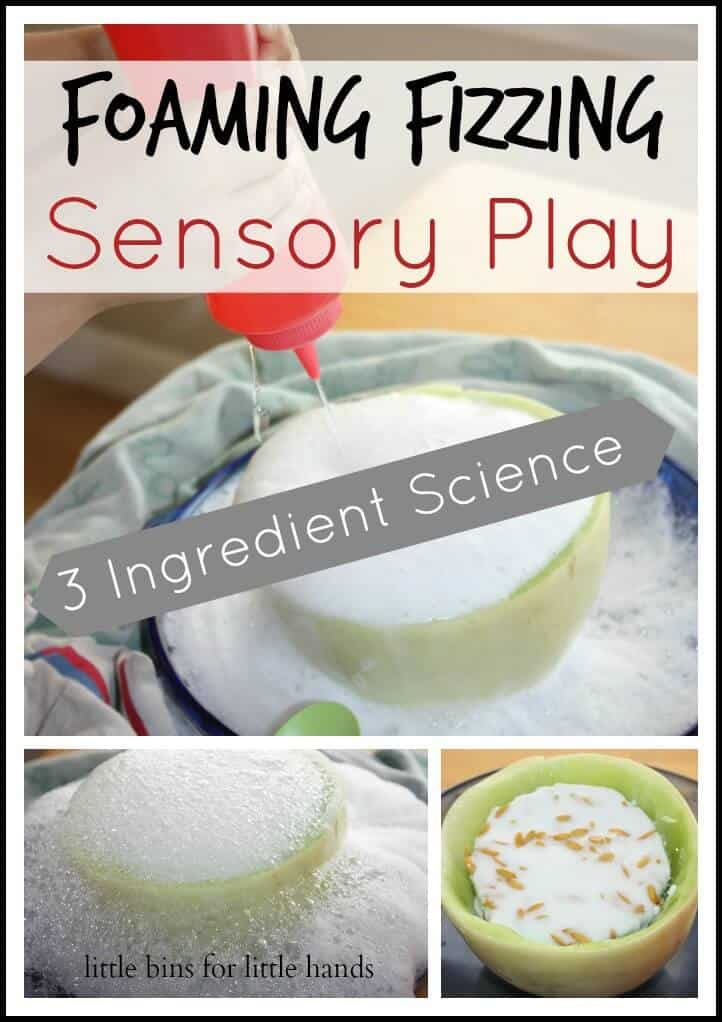 foaming fizzing sensory play Activity 3 ingredients