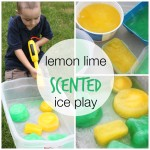 ice play lemon lime scented sensory water play
