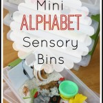 mini alphabet sensory bins activity