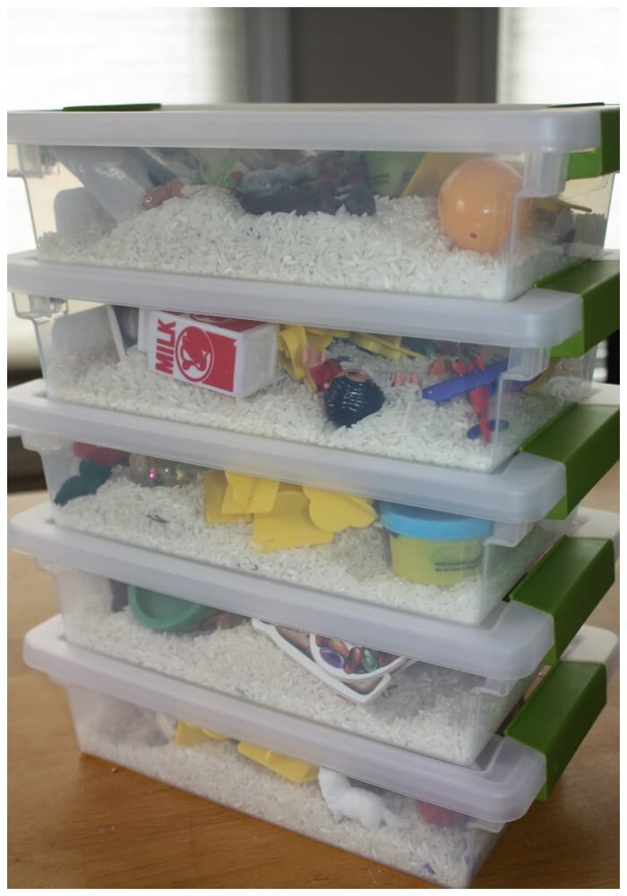 mini alphabet sensory bins shot of stacked bins