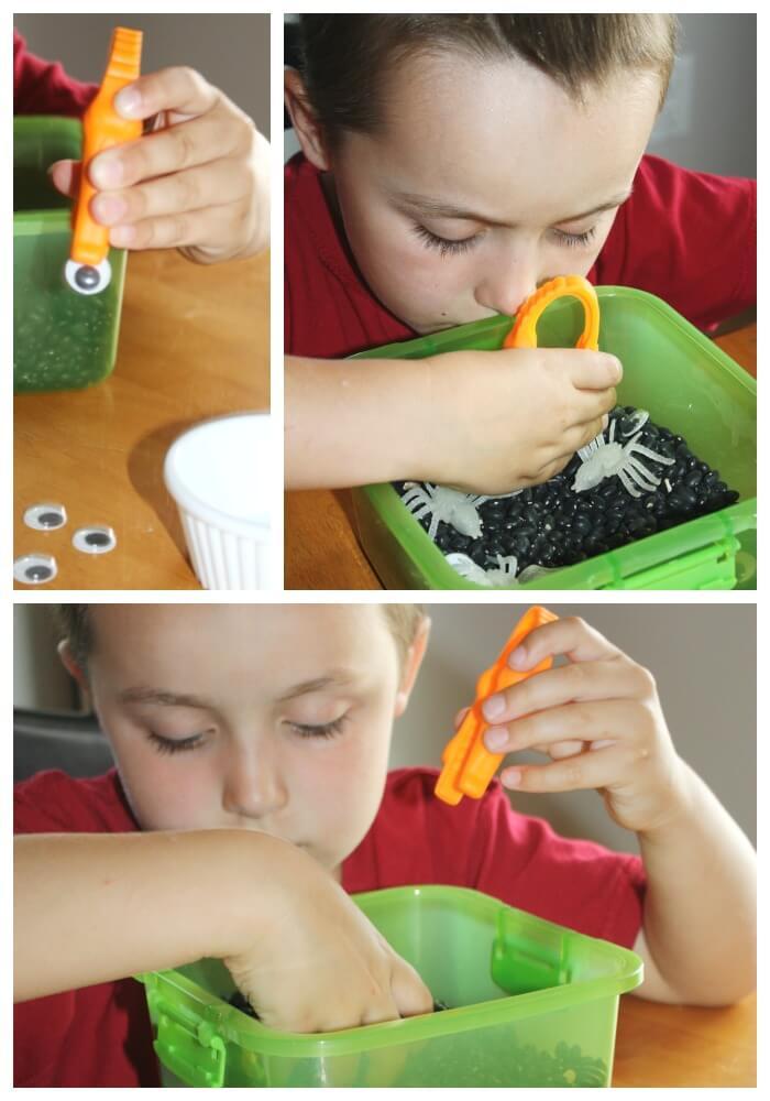 portable sensory bins fine motor skills tweezer work