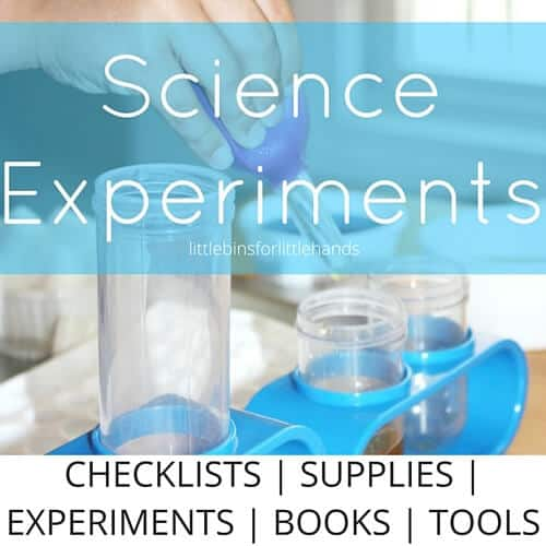 science experiments checklists for getting started with easy science activities