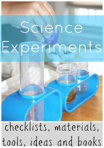 science experiments checklists, materials, tools, ideas and books