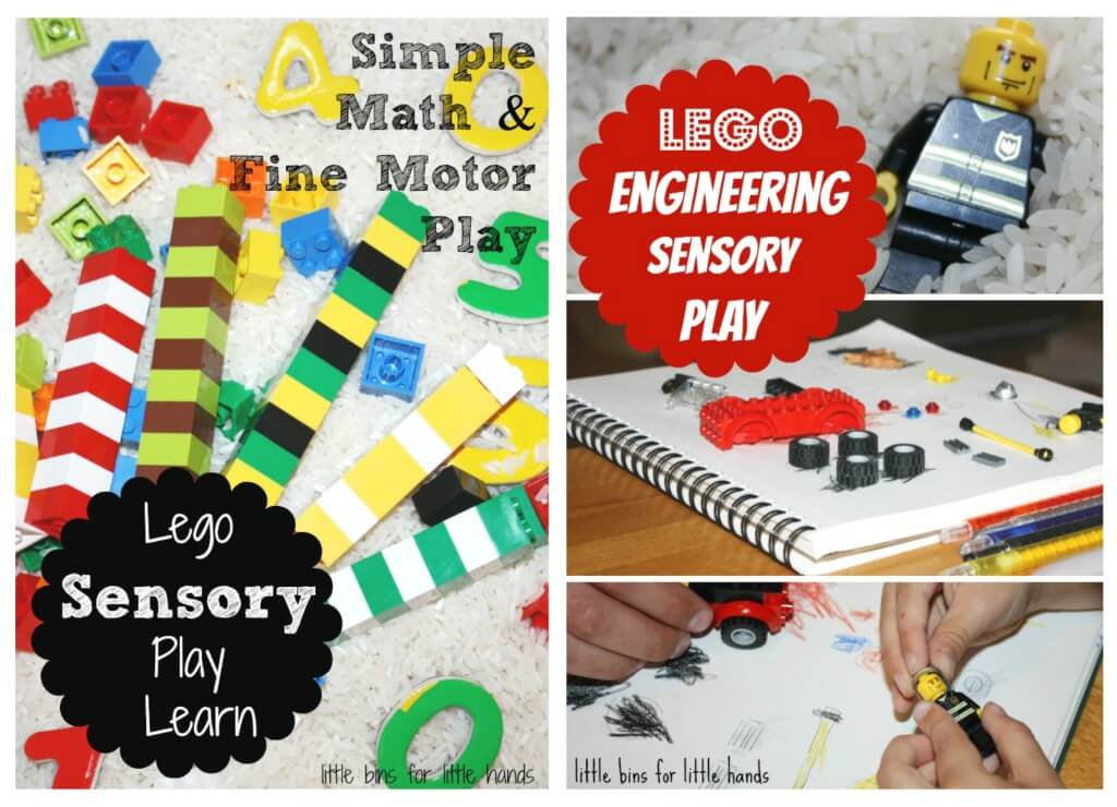 10+ rice sensory play ideas around the house using legos