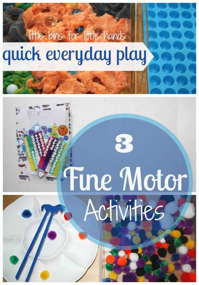 3 quick fine motor activities for kids little bins for for Simple motors for kids