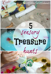 5 Treasure Hunts Sensory Play