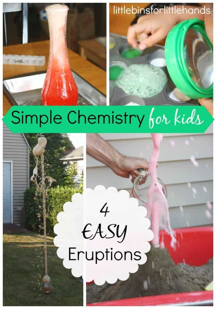 Eruptions chemistry science activities for kids STEM