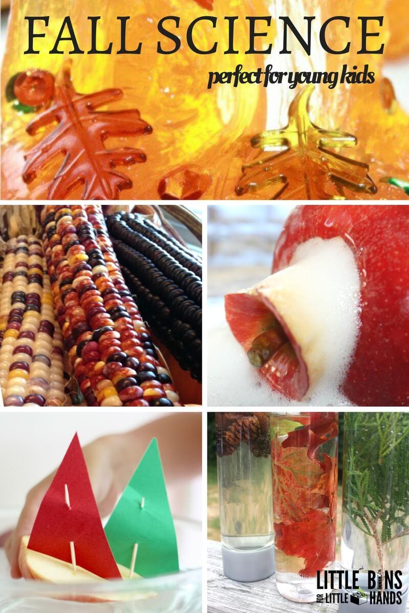 science fall activities experiments preschool themed toddlers sensory leaves preschoolers projects autumn stem kindergarten pumpkin season baking play seasonal nature