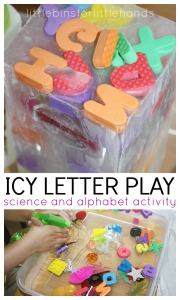 Letter Sounds Activity Ice Science and Alphabet Activity for Preschool