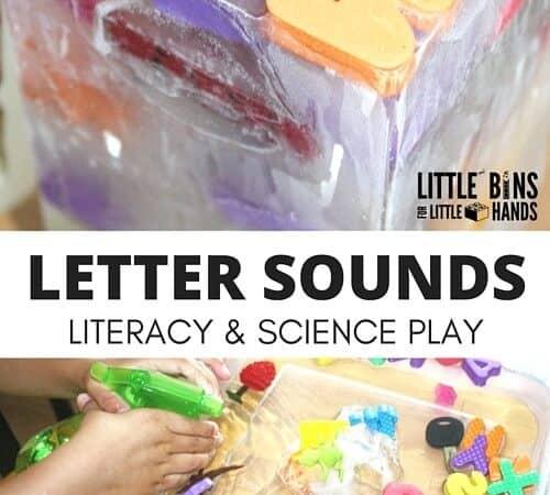 Letter Sounds Activity Sensory Play