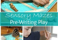 Maze Sensory Play Pre Writing Activity