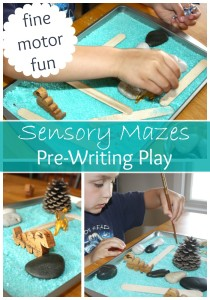 Maze Sensory Play Pre Writing Activity