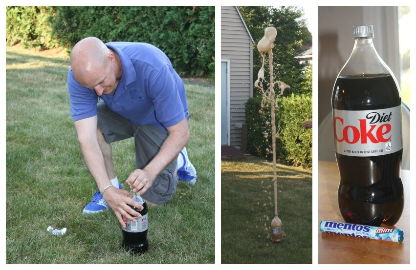 eruption chemistry science activity diet coke and mentos