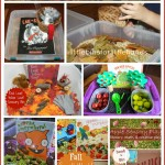 fall books sensory bins