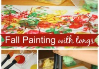 fall painting activity for kids