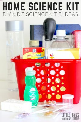 Homemade Kids Science Kit with science supplies and science activities