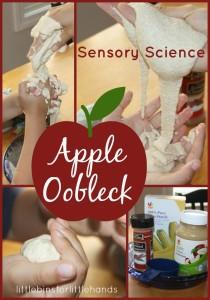 Apple Oobleck Science Sensory Play