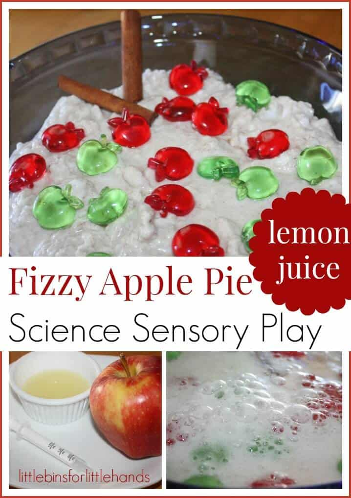 Apple Fizzy Science Lemon Juice Sensory Play And Apple Lemon Juice Experiment