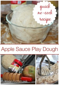 Apple Sauce No Cook Play Dough Made With Coconut Flour