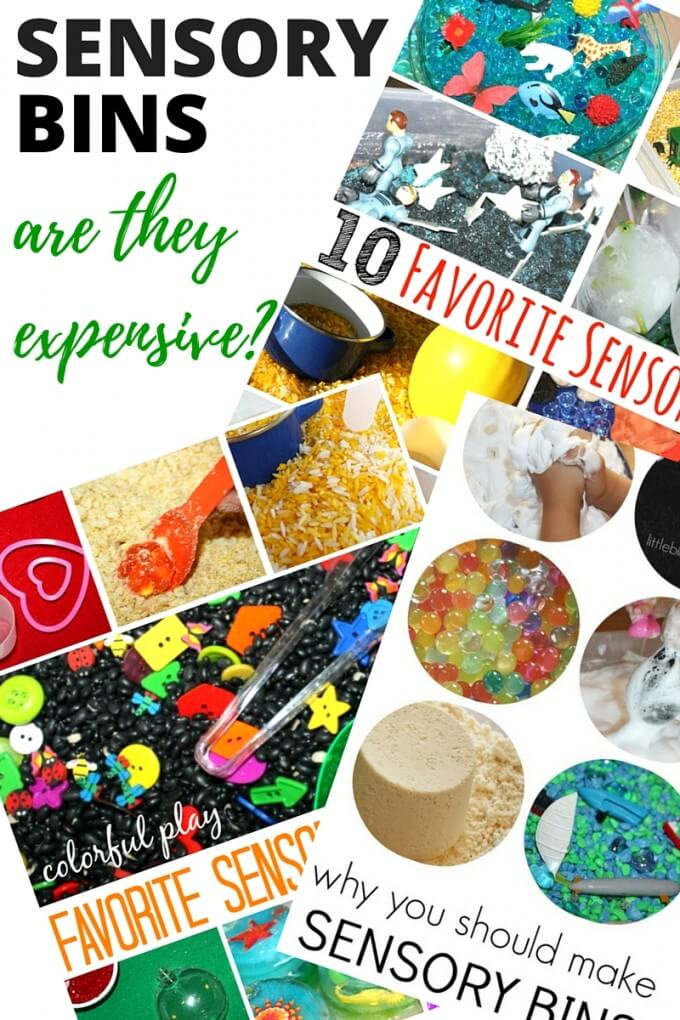 Are sensory bins expensive?