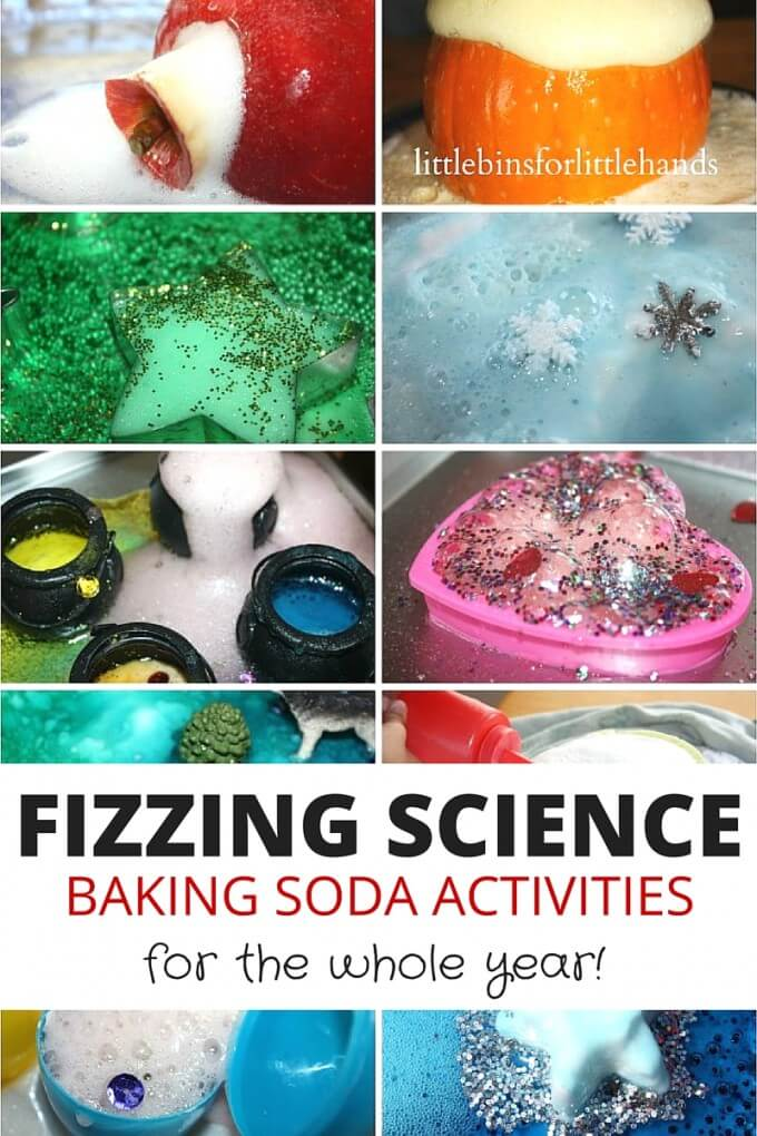Baking soda science activities for a year of fizzing science activities for kids STEM