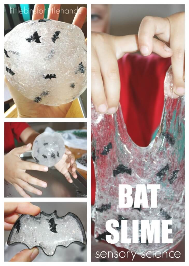 Bat Slime How To Make Easy Slime Sensory Play Slime Science Halloween Activity