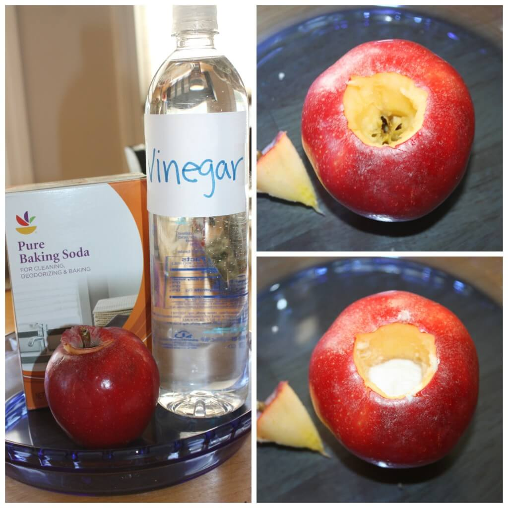 Erupting Apple Activity fizzy Science set up